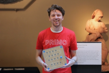 Dimitri Hajichristou, coding with Cubetto and Primo Toys at the V&A Museum, London