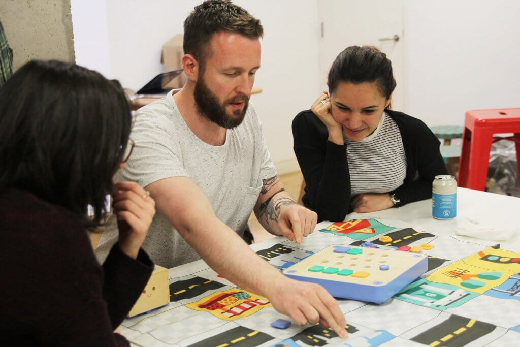 Primo Toys coding workshop with It's Nice That design studio