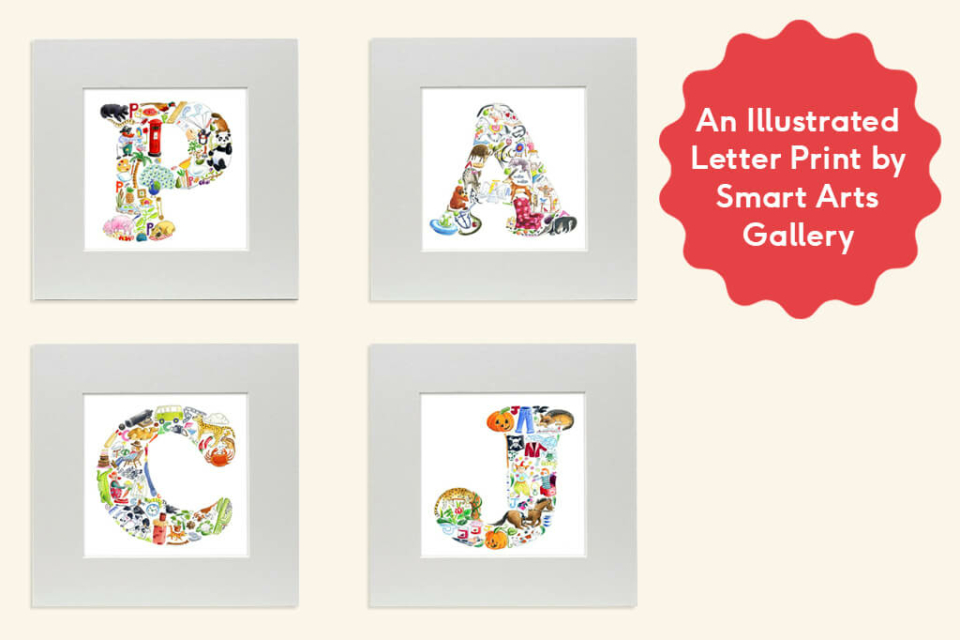 Day 5 - An Illustrated Letter Print by Smart Arts Gallery