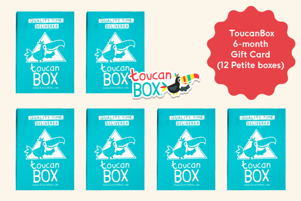 Day 6 - toucanBox 6-month Gift Card (12 Petite boxes)